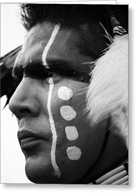 Cree Greeting Cards - Traditional Dancer B Greeting Card by Jerry Cordeiro