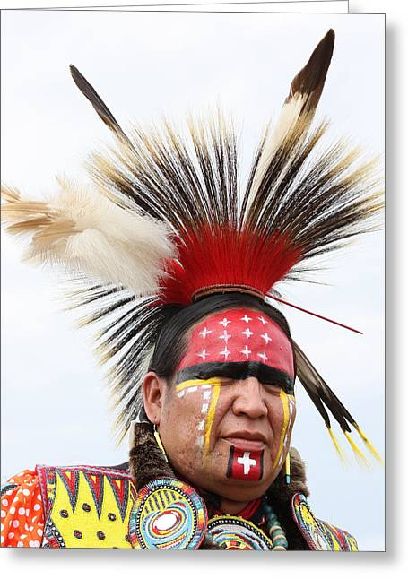 Cree Greeting Cards - Traditional Dancer C Greeting Card by Jerry Cordeiro