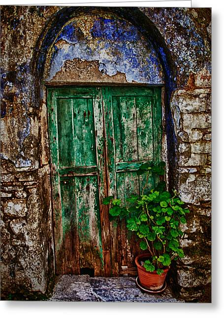 Architectur Greeting Cards - Traditional Door Greeting Card by Emmanouil Klimis