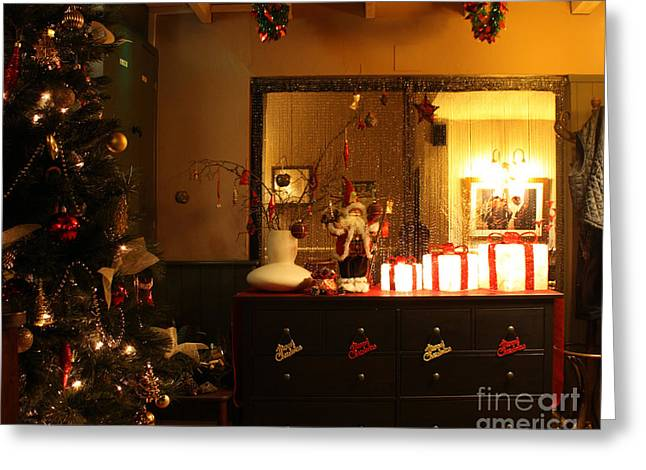 Christmas Eve Greeting Cards - Traditional English Christmas Greeting Card by Terri  Waters