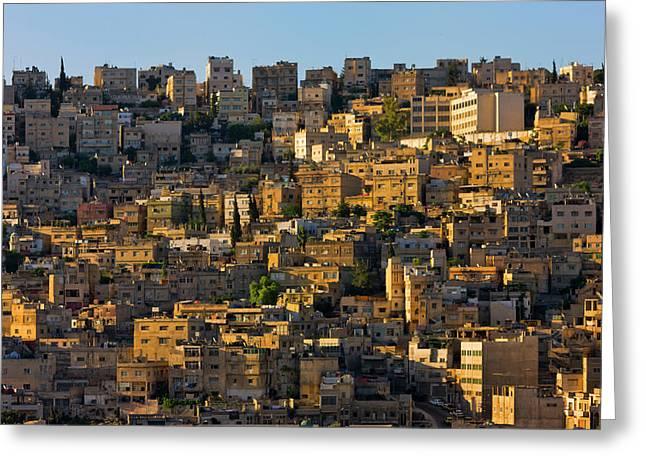 Traditional Houses In Amman, Jordan Greeting Card by Keren Su