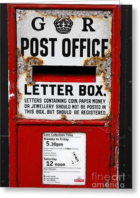 Postal Greeting Cards - Traditional letter box in Hastings England Greeting Card by Robert Preston
