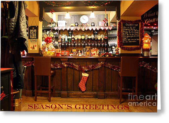 Christmas Eve Greeting Cards - Traditional Seasons Greetings Greeting Card by Terri  Waters