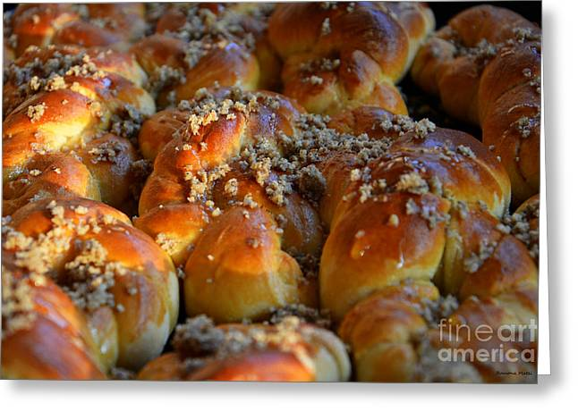 Sun Baker Greeting Cards - Traditional sweet bakery II Greeting Card by Ramona Matei