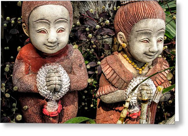Traditional Thai Welcome Greeting Card by Adrian Evans