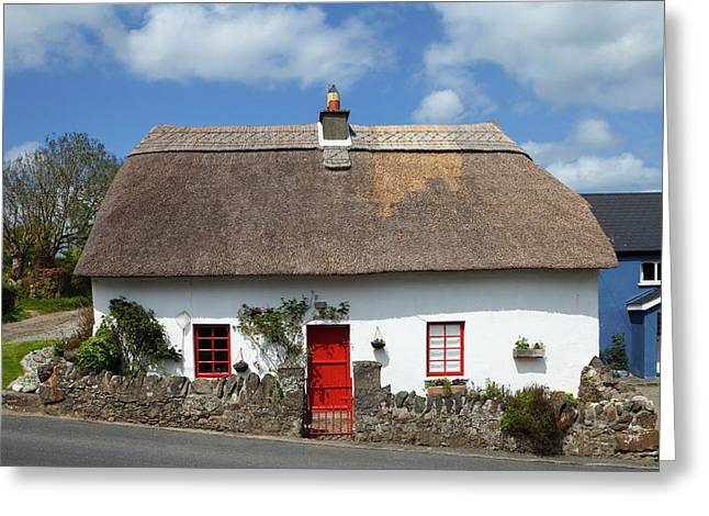 Traditional Thatched Cottage Greeting Card by Panoramic Images