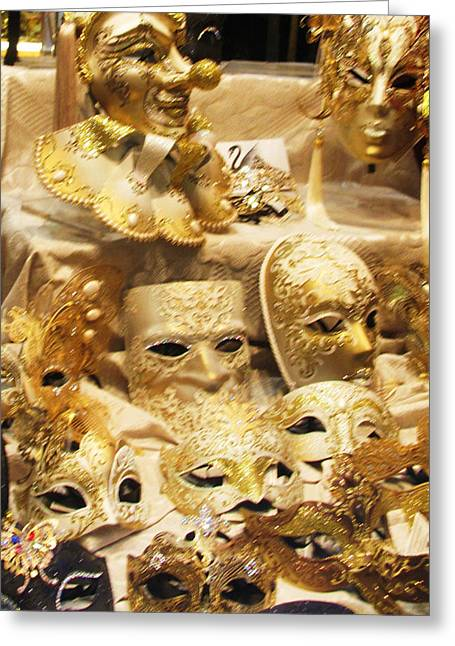 Italy Greeting Cards - Traditional Venetian carnival masks Greeting Card by Cimorene Photography