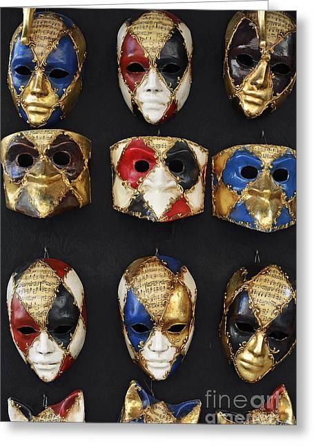 Sami Sarkis Greeting Cards - Traditional Venetian masks  Greeting Card by Sami Sarkis