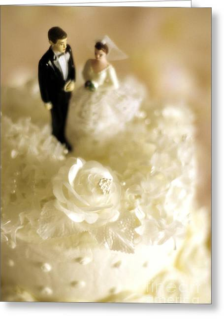 Bride And Groom Greeting Cards - Traditional Wedding Cake Decorations Greeting Card by Jim Corwin