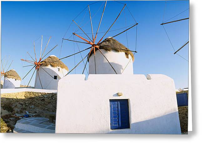 Environmental Conservation Greeting Cards - Traditional Windmill In A Village Greeting Card by Panoramic Images