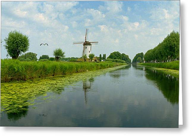Environmental Conservation Greeting Cards - Traditional Windmill Greeting Card by Panoramic Images