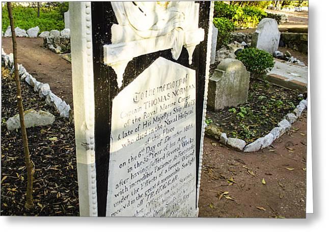 Trafalgar Cemetery Headstone Greeting Card by Deborah Smolinske