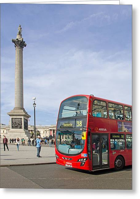 Lord Admiral Nelson Greeting Cards - Trafalgar Square Greeting Card by Paul Martin