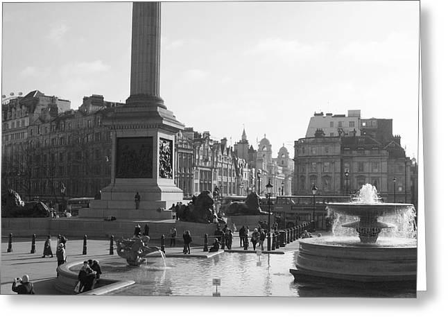 Colin Hogan Greeting Cards - Trafalgar Square - ref 7761 Greeting Card by Colin Hogan