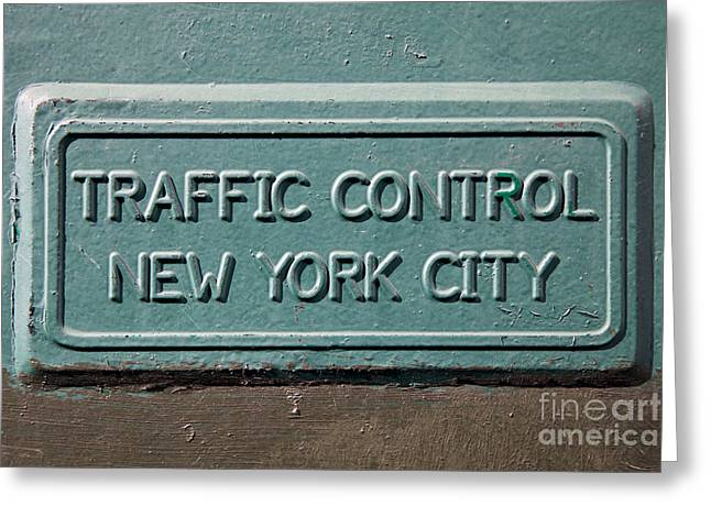 Traffic Control Greeting Cards - Traffic Control New York City Greeting Card by Jannis Werner
