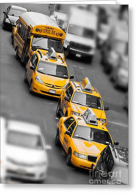 Traffic Greeting Card by Delphimages Photo Creations