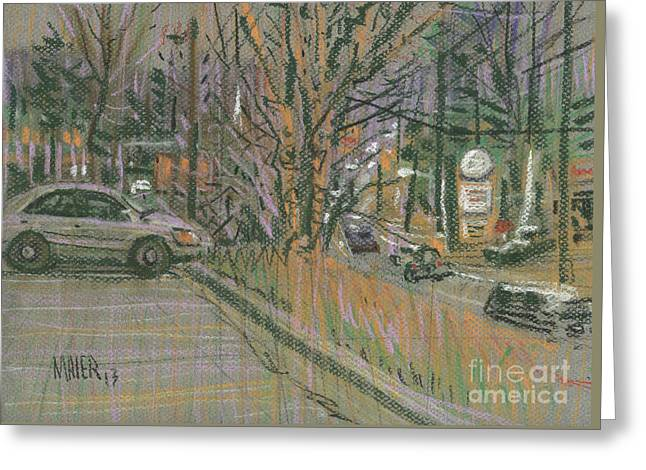 Traffic Drawings Greeting Cards - Traffic Greeting Card by Donald Maier