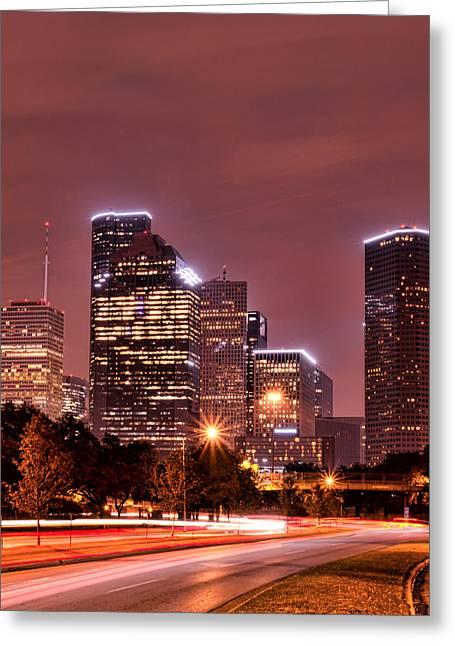 Kayta Kobayashi Greeting Cards - Traffic from Houston Greeting Card by Kayta Kobayashi
