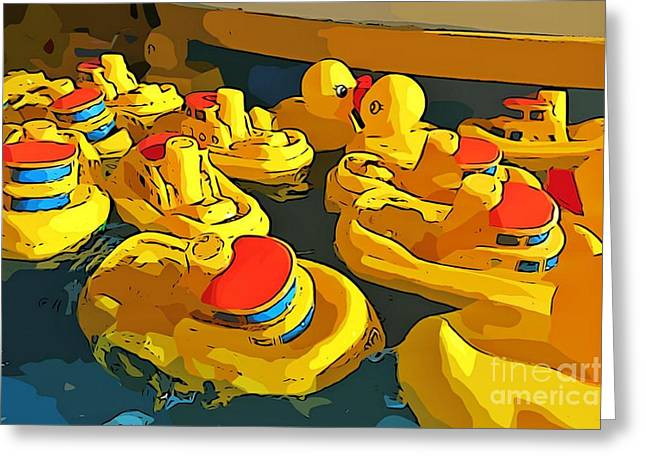 Toy Boat Greeting Cards - Traffic Jam Greeting Card by John Malone