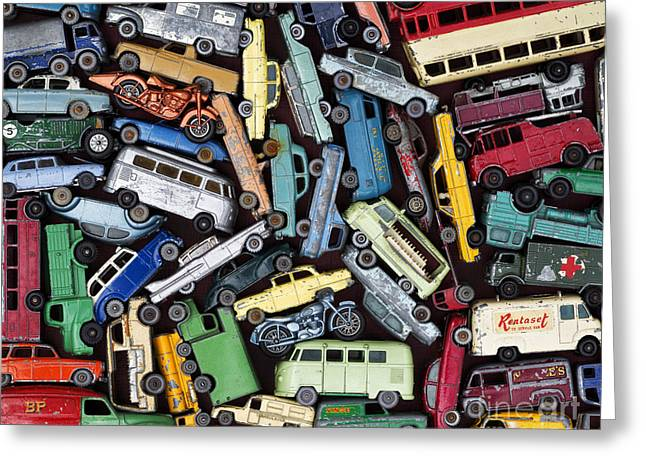 English Car Greeting Cards - Traffic Jam Greeting Card by Tim Gainey