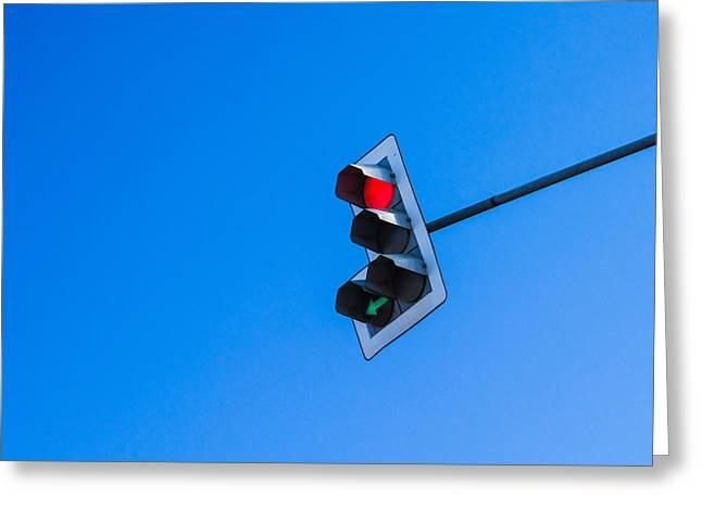 Traffic Light - Featured 3 Greeting Card by Alexander Senin