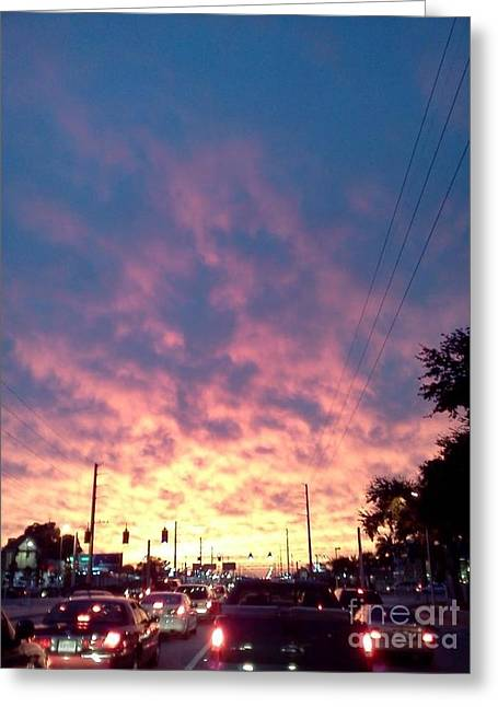 Paradise Road Greeting Cards - Traffic Light Greeting Card by Melissa Darnell Glowacki