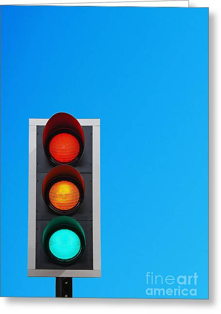 Traffic Control Greeting Cards - Traffic lights Greeting Card by Luis Alvarenga