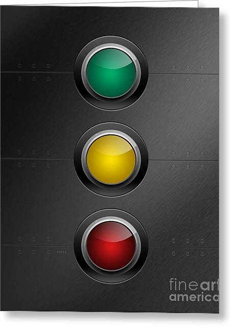 Traffic Control Greeting Cards - Traffic Lights Greeting Card by Phil Perkins