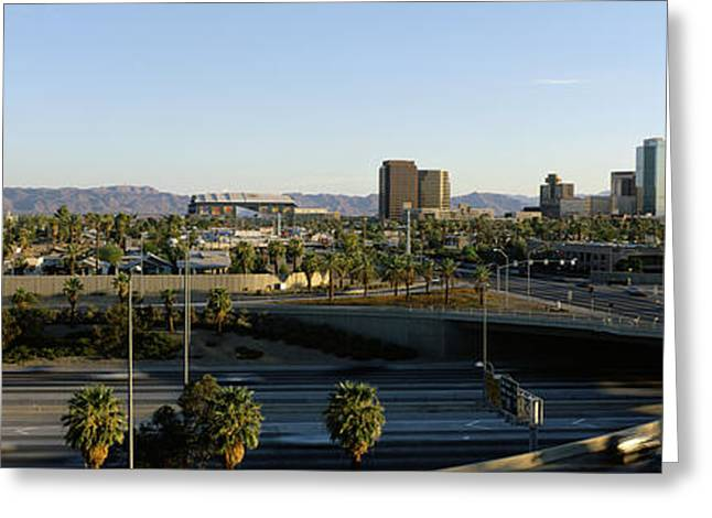 Phoenix Architecture Greeting Cards - Traffic Moving On The Road, Phoenix Greeting Card by Panoramic Images