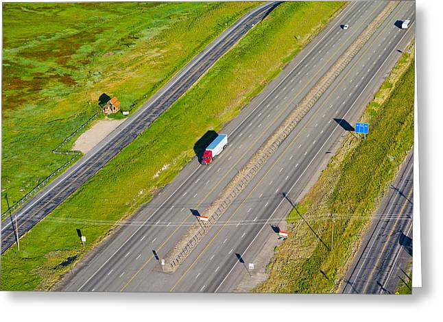 City Photography Greeting Cards - Traffic On Highway, Interstate 80, Park Greeting Card by Panoramic Images