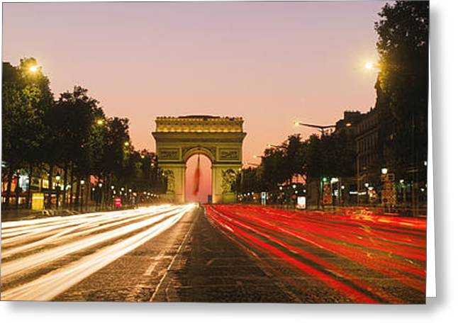 Champs Greeting Cards - Traffic On The Road, Avenue Des Greeting Card by Panoramic Images