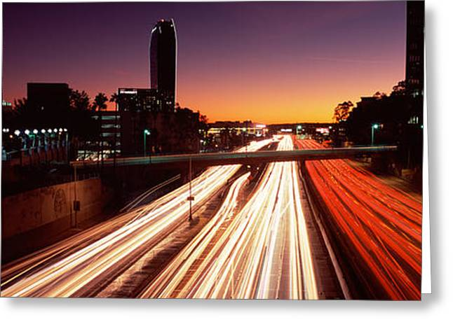 Life Speed Greeting Cards - Traffic On The Road, City Of Los Greeting Card by Panoramic Images