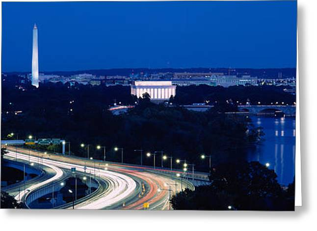 Traffic On The Road, Washington Greeting Card by Panoramic Images