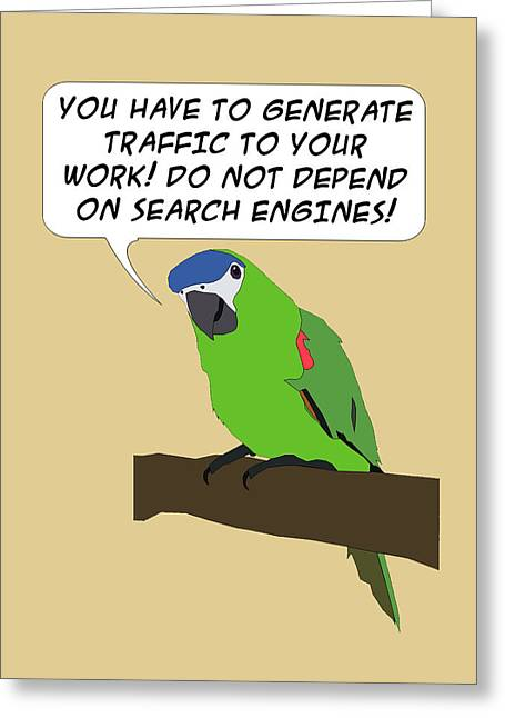 Speech Balloon Greeting Cards - Traffic Parrot Greeting Card by Rick Al