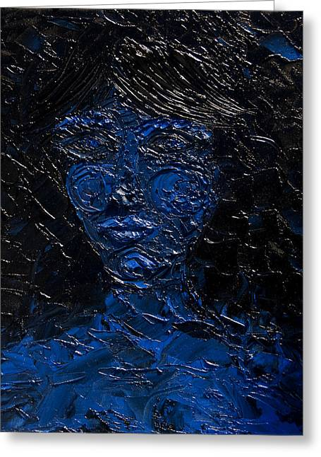 Archetype Paintings Greeting Cards - Claimed by Darkness Greeting Card by Sora Neva