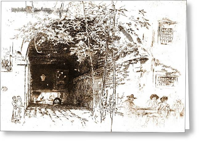 Traghetto 1880 Greeting Card by Padre Art