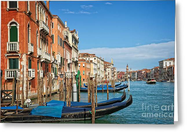 Traghetto Greeting Card by Delphimages Photo Creations