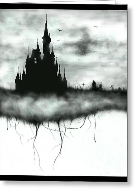 Amusements Mixed Media Greeting Cards - Tragic Kingdom Greeting Card by Lance Shaffer