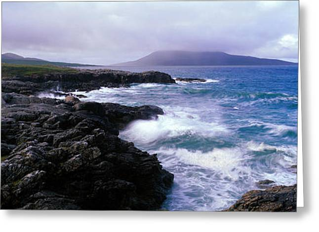 Outer Hebrides Greeting Cards - Traigh Luskentyre  Sound Of Taransay Greeting Card by Panoramic Images