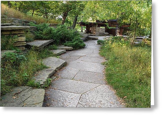Jensen Greeting Cards - Trail Caldwell Lily Pond Lincoln Park Greeting Card by Steve Gadomski