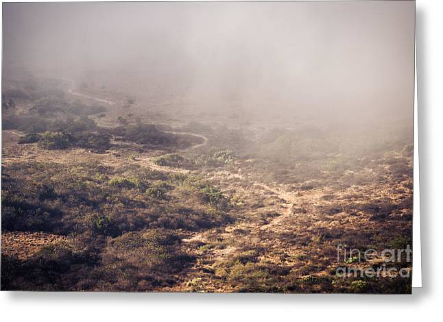 Black Mountain Greeting Cards - Trail into the Fog Greeting Card by Alexander Kunz