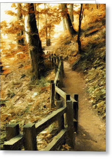 Kathy Jennings Photography Greeting Cards - Trail To The Top Greeting Card by Kathy Jennings