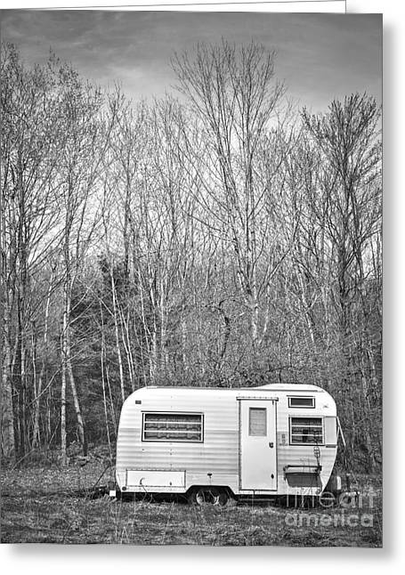 Camping Greeting Cards - Trailer Greeting Card by Diane Diederich