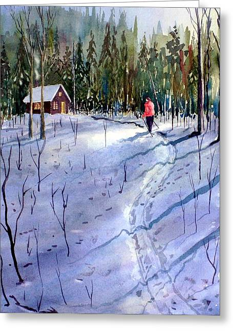 Recently Sold -  - Log Cabins Greeting Cards - Trails End Greeting Card by Ian Nicholl