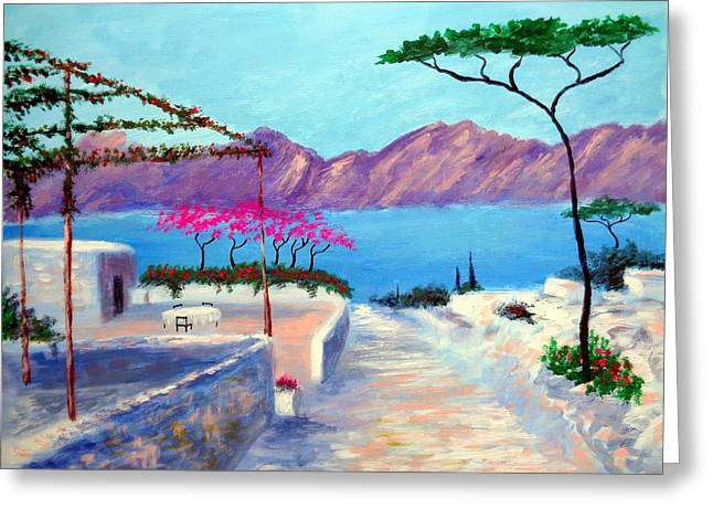 Trails Of Greece Greeting Card by Larry Cirigliano