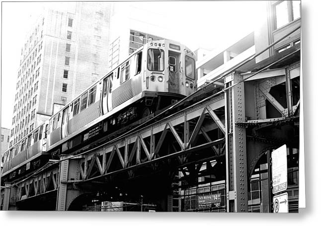 Lack And White Greeting Cards - Train Greeting Card by Admir Gorcevic