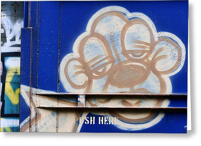 Graffiti Photographs Greeting Cards - Train Art Cartoon Dog Greeting Card by Carol Leigh