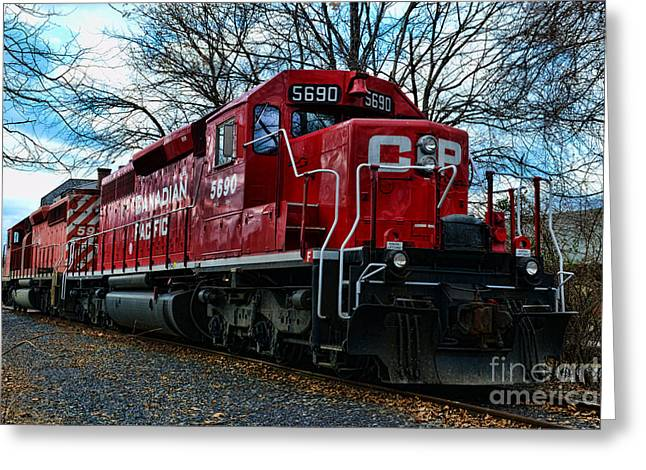 Journeyman Greeting Cards - Train - Canadian Pacific 5690 Greeting Card by Paul Ward