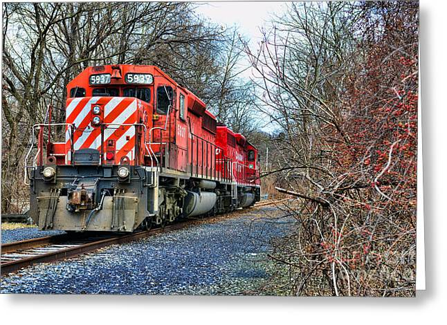 Train - Canadian Pacific Engine 5937 Greeting Card by Paul Ward