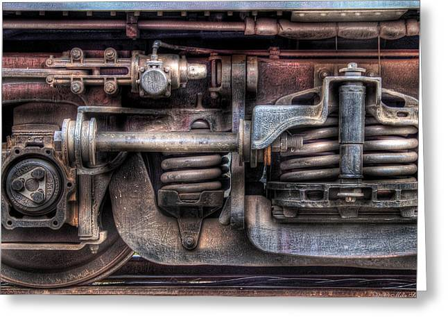Train - Car - Springs and Things Greeting Card by Mike Savad